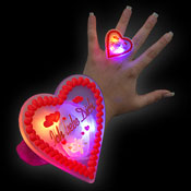 "LED GINGERBREAD RING ""ICH LIEBE DICH"""