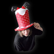 CHRISTMAS STOVEPIPE HAT- HEADFIRST SANTA