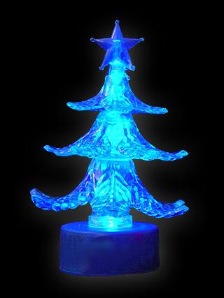 Tannenbaum Acryl.Mini Tannenbaum Acryl Blau 9 Cm Classic Line Gmbh