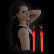 MIRACLE OF THE LIGHT  CLIP-ON EARRINGS RED