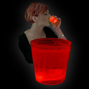 SHOT GLOW CUP 50ml RED