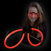 GLOW LIGHT GLASSES RED