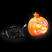 LED HALLOWEEN NECKLACE PUMPKIN