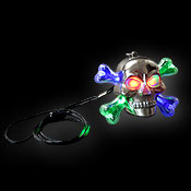 LED HALLOWEEN NECKLACE SKULL
