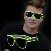 Lunettes lumineuses blanches  Néon Vert