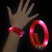 LED WRAPPED BRACELET RED