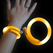 LED WRAPPED BRACELET YELLOW