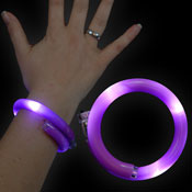 LED WRAPPED BRACELET VIOLET