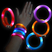 LED WRAPPED BRACELET RED-BLUE-ORANGE-VIOLET assorted