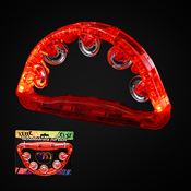 LED TAMBOURINE RED 180 DEGREES