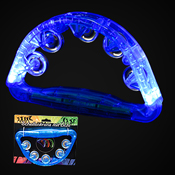 LED TAMBOURINE BLUE 180 DEGREES