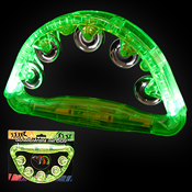 LED TAMBOURINE GREEN 180 DEGREES