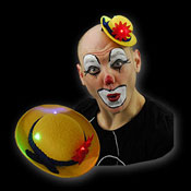 LED MINI MIME SPELER HOED CLOWN GEEL