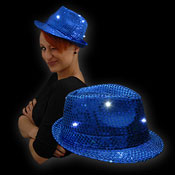 SEQUIN HAT BLUE