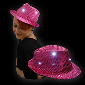 LED SEQUIN HOED ROZE