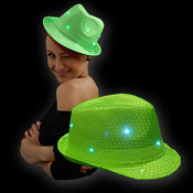 LED SEQUIN HOED GROEN