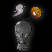 LED HALLOWEEN HEADGEAR GHOST-PUMPKIN