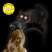 LED HALLOWEEN HEADGEAR BLACK CAT
